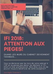 IFI 2018 professionnels de santé  Les surprises de l'IFI 2018: quand les murs de cabinet deviennent taxables! IFI 2018 professionnels de sante