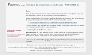 email frauduleux  Impôts: attention aux courriels frauduleux email frauduleux